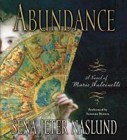 Cover image for Abundance a novel of Marie Antoinette