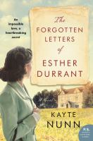 Cover image for The forgotten letters of Esther Durrant