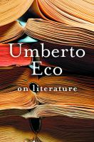 Cover image for On literature