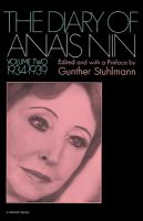 Cover image for The diary of Anaïs Nin