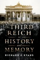 Cover image for The Third Reich in history and memory