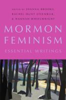 Cover image for Mormon feminism essential writings