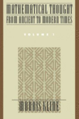 Cover image for Mathematical thought from ancient to modern times