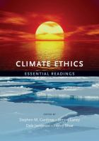 Cover image for Climate ethics essential readings