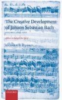 Cover image for The creative development of Johann Sebastian Bach