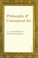 Cover image for Philosophy and conceptual art