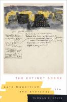 Cover image for The extinct scene  late modernism and everyday life
