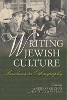 Cover image for Writing Jewish culture  paradoxes in ethnography