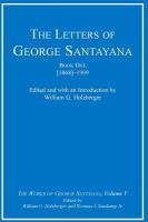 Cover image for The letters of George Santayana
