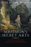 Cover image for Solomon's secret arts : the occult in the Age of Enlightenment