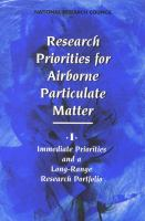 Cover image for Research priorities for airborne particulate matter
