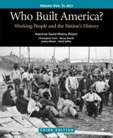 Cover image for Who built America? : working people and the nation's history.