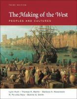 Imagen de portada para The making of the West : peoples and cultures