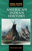 Cover image for Term paper resource guide to American Indian history