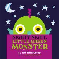 Cover image for Nighty night Little Green Monster