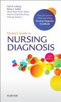 Cover image for Mosby's guide to nursing diagnosis