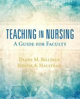 Cover image for Teaching in nursing : a guide for faculty