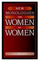 Cover image for New monologues for women by women