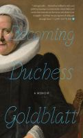 Cover image for Becoming Duchess Goldblatt
