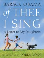 Cover image for Of thee I sing a letter to my daughters