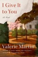 Cover image for I give it to you