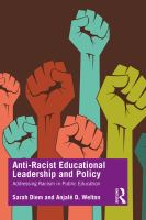 Cover image for Anti-racist educational leadership and policy addressing racism in public education