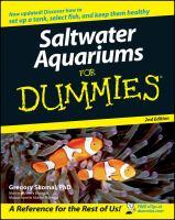 Imagen de portada para Saltwater aquariums for dummies