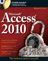 Cover image for Access 2010 bible