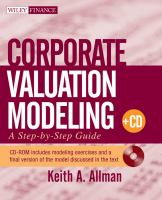Cover image for Corporate valuation modeling a step-by-step guide