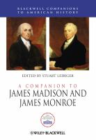 Cover image for A companion to James Madison and James Monroe