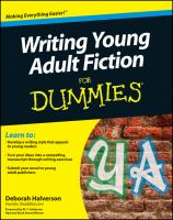 Cover image for Writing young adult fiction for dummies