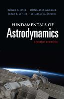Cover image for Fundamentals of astrodynamics