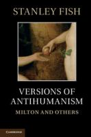 Cover image for Versions of antihumanism Milton and others