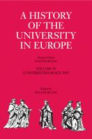 Cover image for A history of the university in the Europe. Volume IV, Universities since 1945