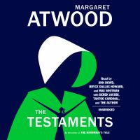 Cover image for The testaments The Sequel to The Handmaid's Tale.
