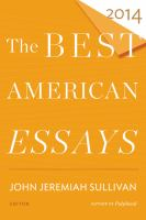 Cover image for The best American essays 2014