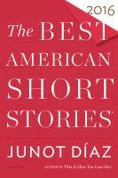 Imagen de portada para The best American short stories 2016