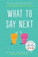 Cover image for What to say next
