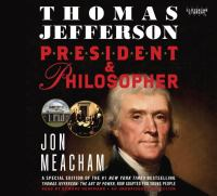 Cover image for Thomas Jefferson president & philosopher