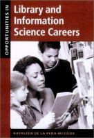 Cover image for Opportunities in library and information science careers