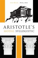 Cover image for Aristotle's modal syllogistic