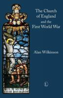 Cover image for The Church of England and the First World War