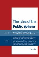 Cover image for The idea of the public sphere a reader