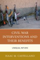 Cover image for Civil war interventions and their benefits  unequal return