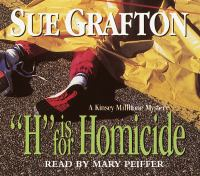 """Cover image for """"H"""" is for homicide"""
