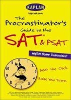 Imagen de portada para The procrastinator's guide to the SAT & PSAT