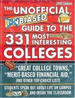 Imagen de portada para The unofficial, unbiased guide to the 331 most interesting colleges