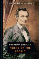 Cover image for Abraham Lincoln  friend of the people