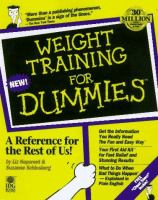 Cover image for Weight training for dummies