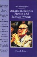 Cover image for American science fiction and fantasy writers